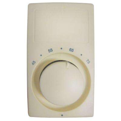 M600 Series Almond Bimetal Single-Pole 22 Amp Wall Thermostat