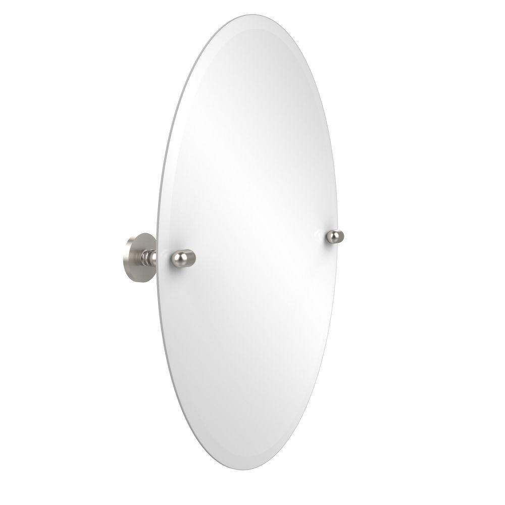 Allied Br Tango Collection 21 In X 29 Frameless Oval Single Tilt Mirror