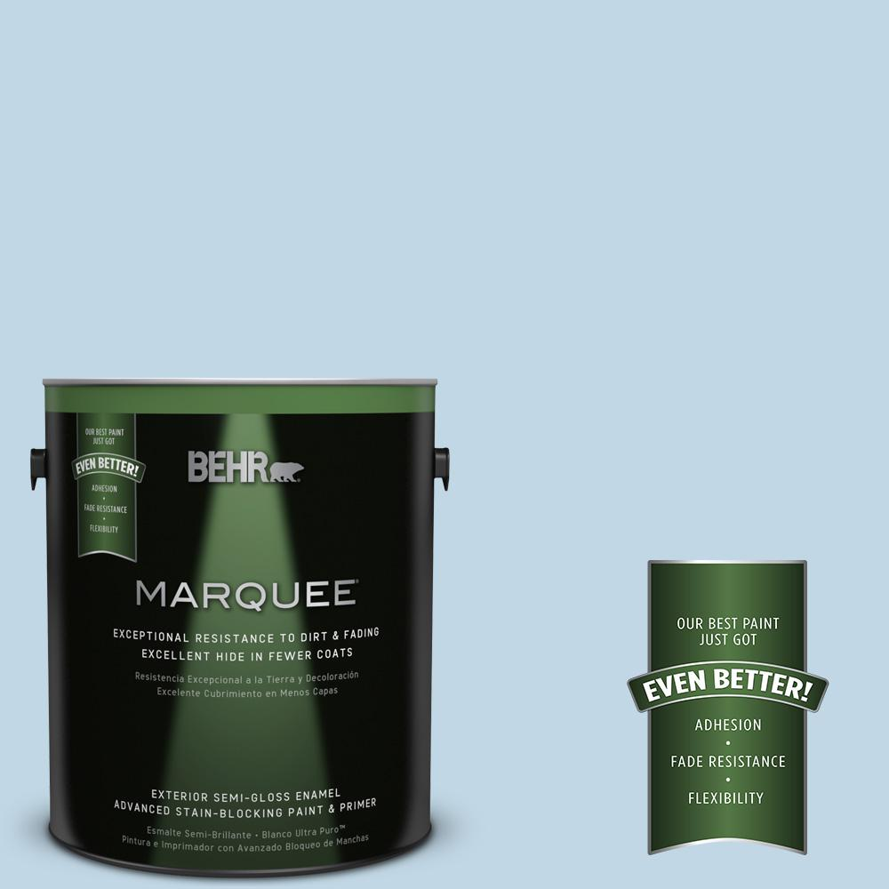 BEHR MARQUEE 1-gal. #S500-1 Distant Shore Semi-Gloss Enamel Exterior Paint