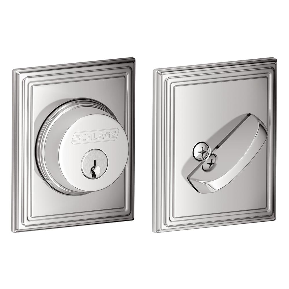 Schlage Lock Addison Bright Chrome Single Cylinder Deadbolt