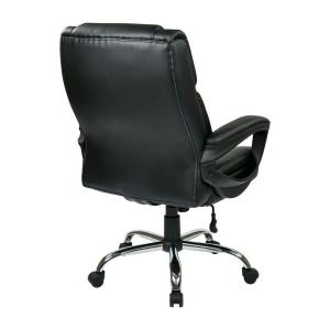 work smart black eco leather big man s executive office chair