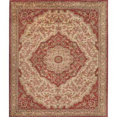 Helena Red 7 ft. x 10 ft. Indoor Area Rug