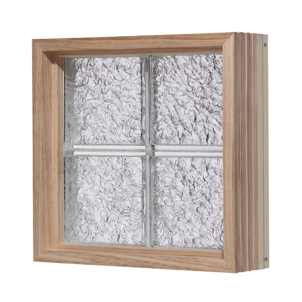 Pittsburgh Corning 24 in. x 48 in. LightWise IceScapes Pattern Aluminum-Clad Glass Block Window