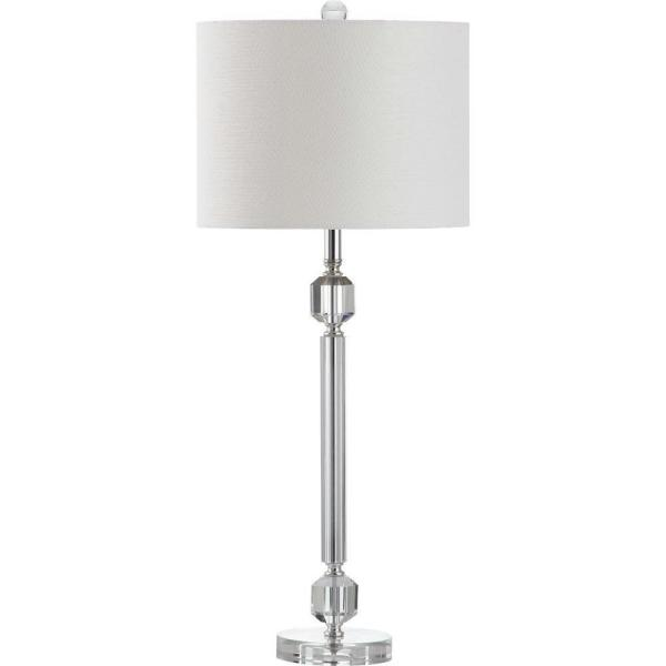 Cosna 26 in. Clear Prism Table Lamp with White Shade (Set of 2)