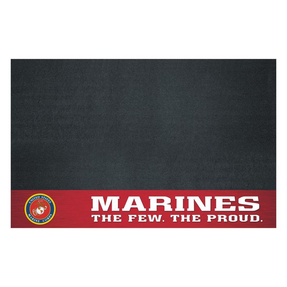 MIL - U.S. Marines 42 in. x 26 in. Vinyl Grill Mat