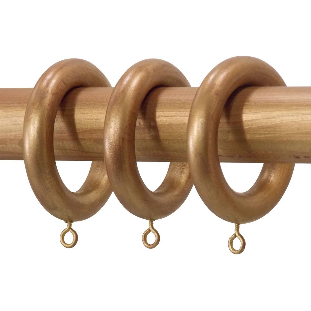 Classic Home 1 3 8 In Historical Gold Wood Rings Set Of 7 9324 12