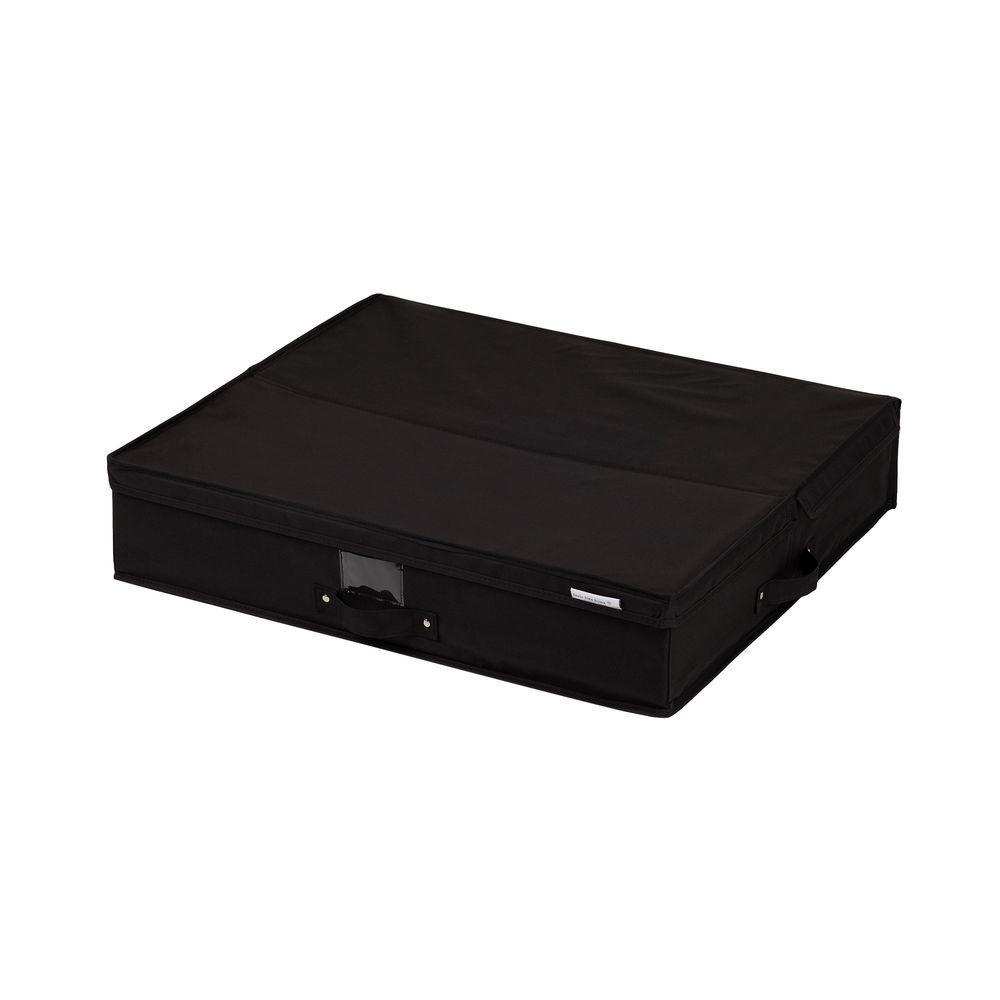 Storit Medium Black Polyester Underbed Storage Box 1-Pack