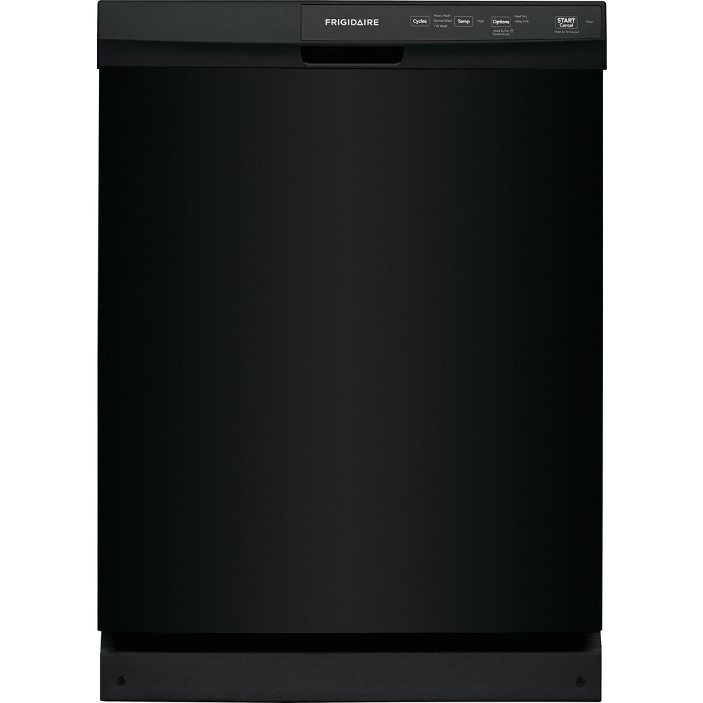 Frigidaire 24 In Built Front Control Tall Tub Dishwasher Black 60