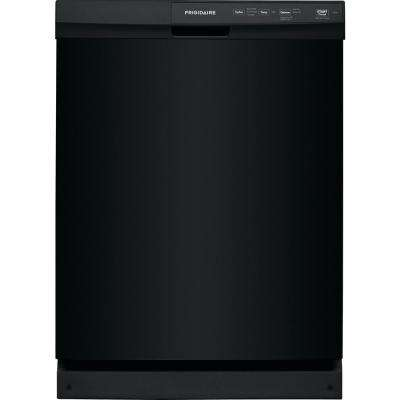 24 in. Built-In Front Control Tall Tub Dishwasher in Black, 60 dBA