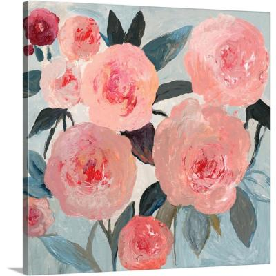 """Coral Floral"" by PI Studio Canvas Wall Art"