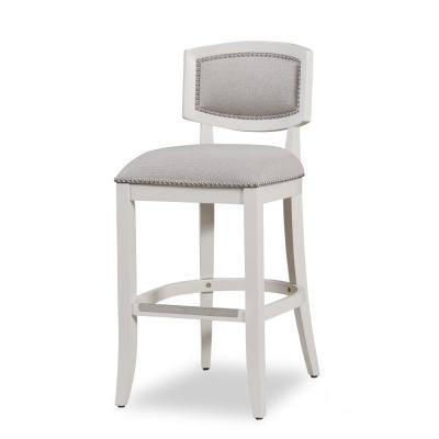 Amelia 26 in. Off White Stationary Counter Stool