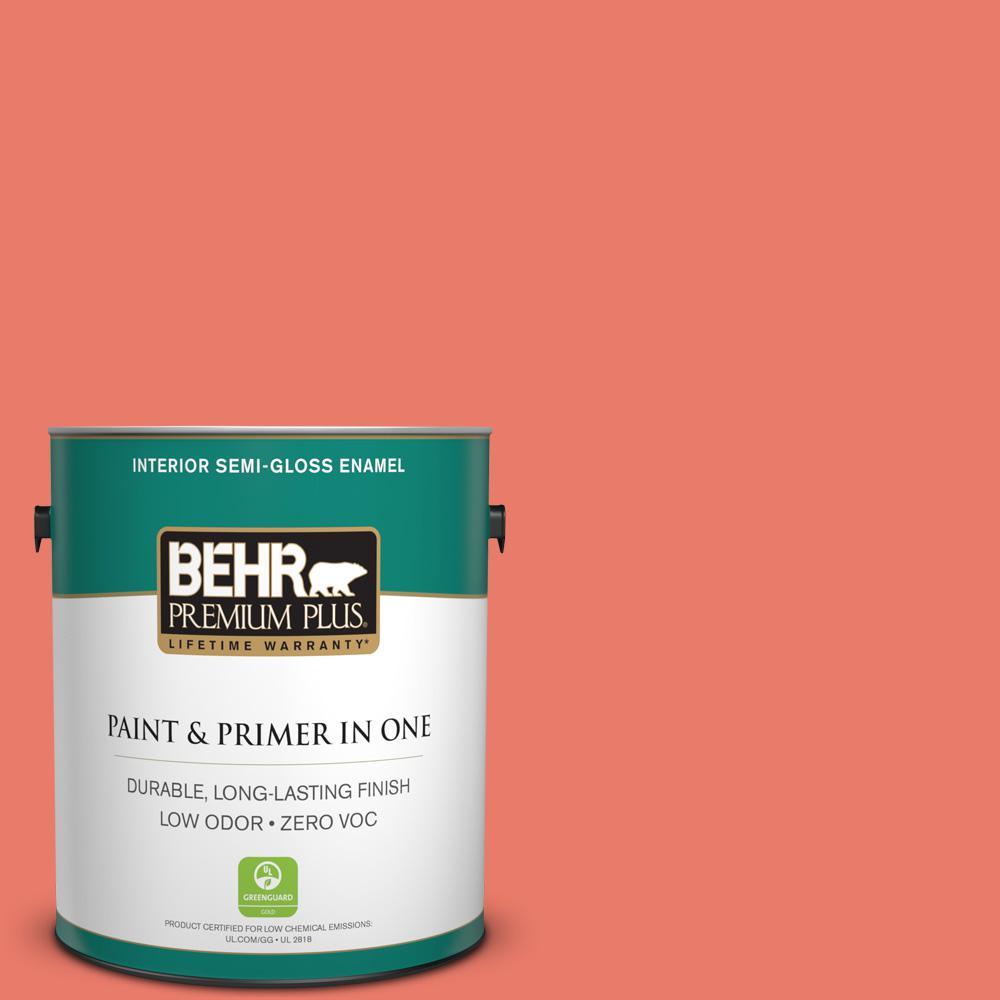 BEHR Premium Plus 1-gal. #180B-5 Cool Lava Zero VOC Semi-Gloss Enamel Interior Paint
