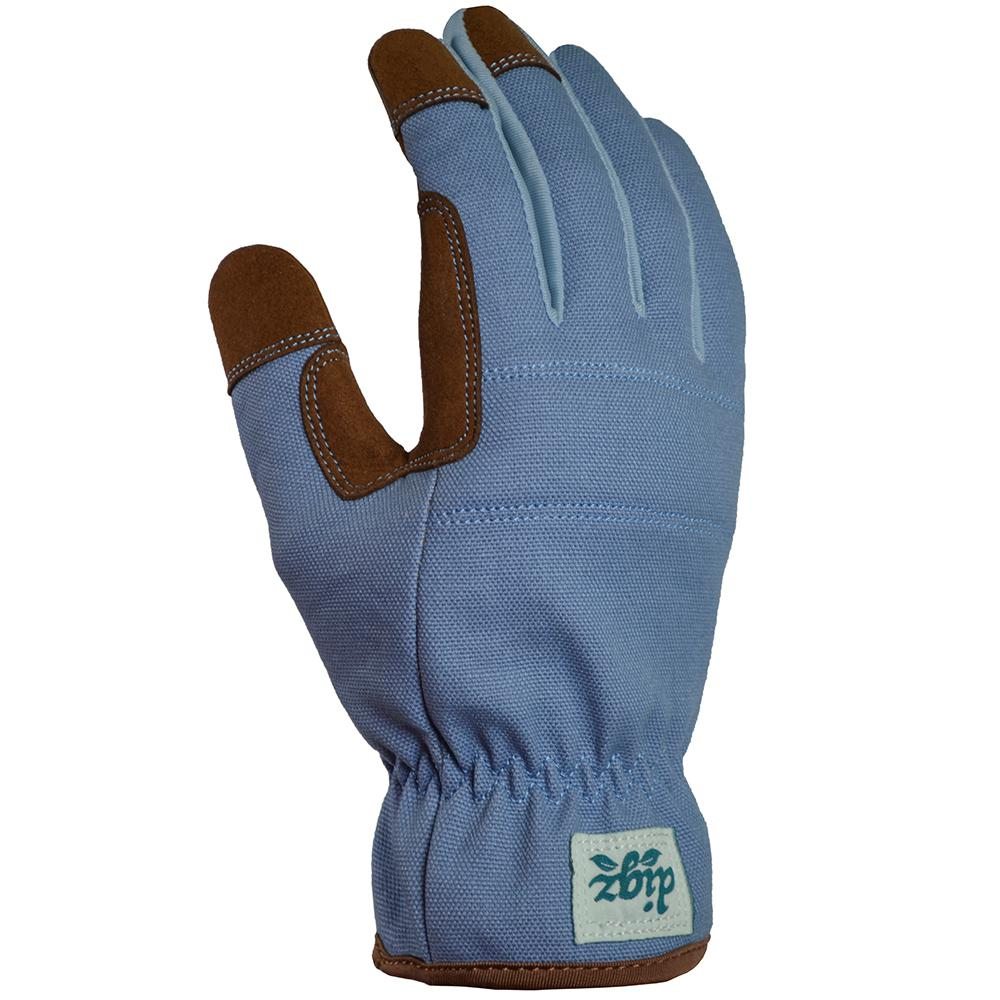Digz Digz Duck Canvas Utility Medium Glove (1-Pair), Adult Unisex, Blue
