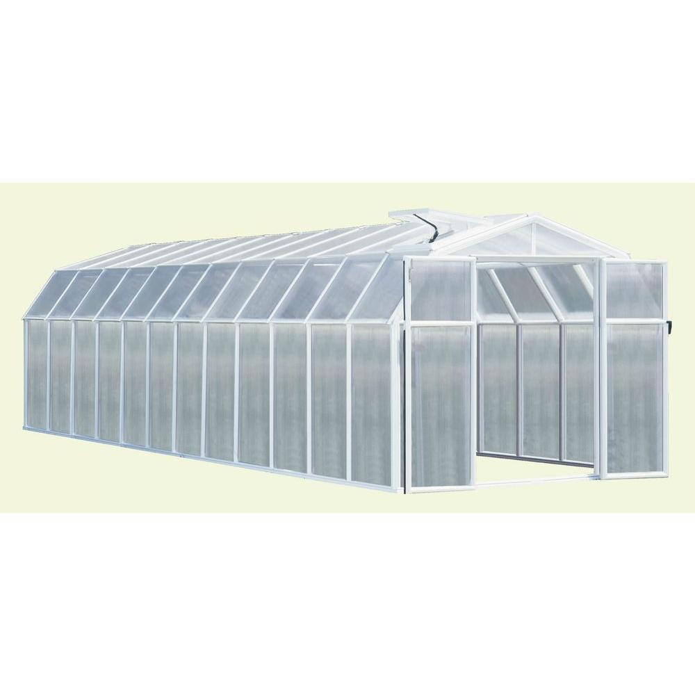 Rion Hobby 8 ft. 6 in. x 24 ft. 10 in. Premium Package White Frame Greenhouse-DISCONTINUED