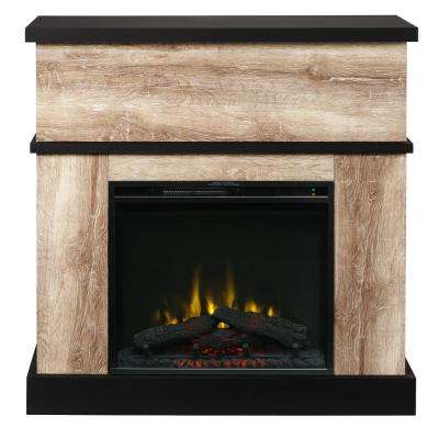Sarah 40 in. Mantel with a 23 in. Electric Fireplace in Distressed Oak