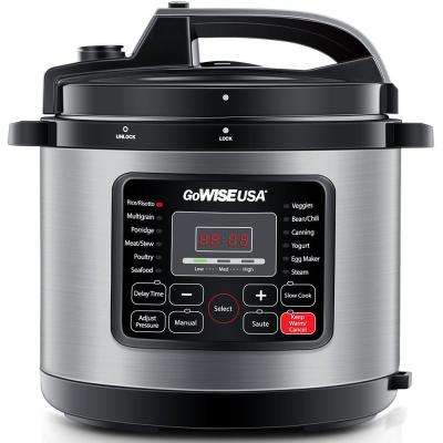 10 Qt. Electric Pressure Cooker with 12-Presets in Stainless Steel