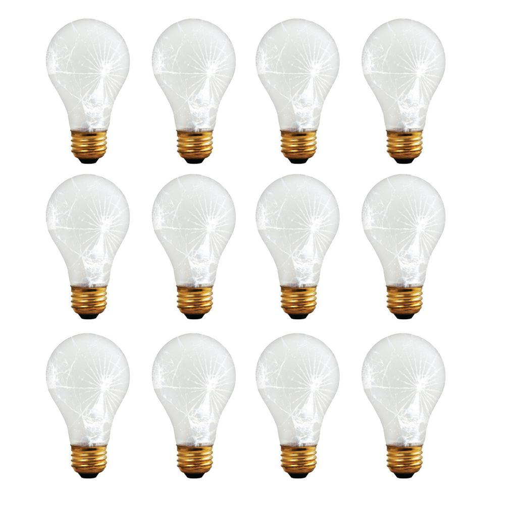 100-Watt A19 Frost Tough Coat Dimmable Warm White Light Incandescent Light Bulb (12-Pack)