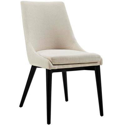 Viscount Beige Fabric Dining Chair