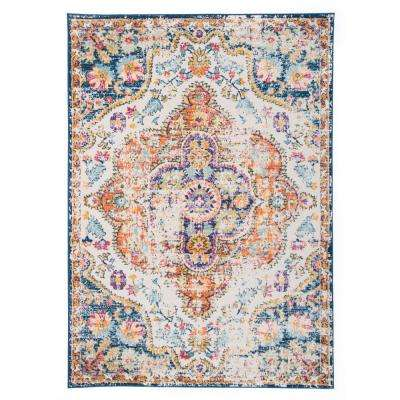 Vintage Distressed Bohemian 5 ft. x 7 ft. Multi Area Rug