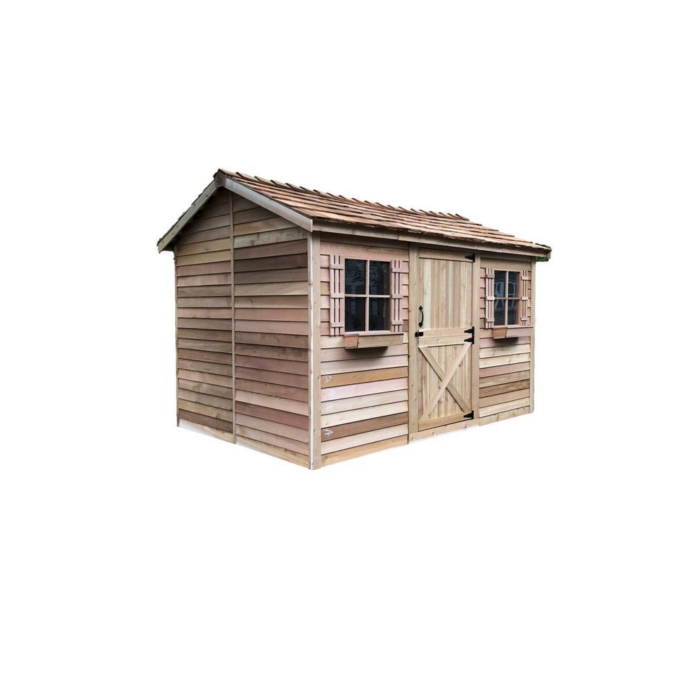 Cedarshed Cabana 12 ft. x 8 ft. Western Red Cedar Garden Shed