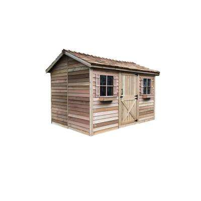 Cabana 13 ft. x 8 ft. 9 in. Western Red Cedar Garden Shed