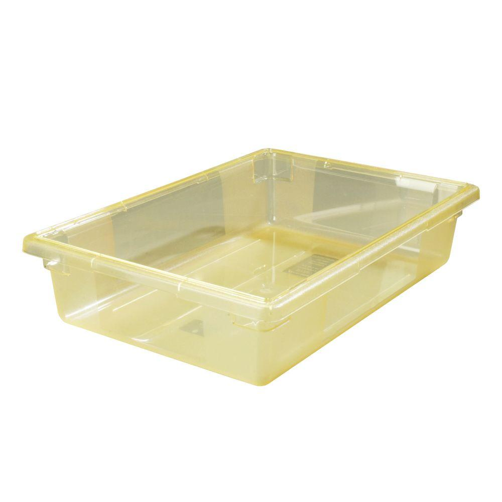 8.5 gal., 18x26x6 in. Polycarbonate Food Storage Box in Translucent Yellow