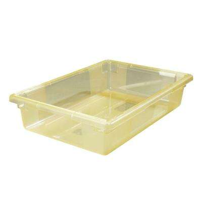 8.5 gal., 18x26x6 in. Polycarbonate Food Storage Box in Translucent Yellow (Case of 6)