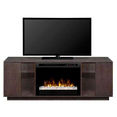 Flex Lex 64 in. Electric Fireplace TV Stand Media Console in Smoke