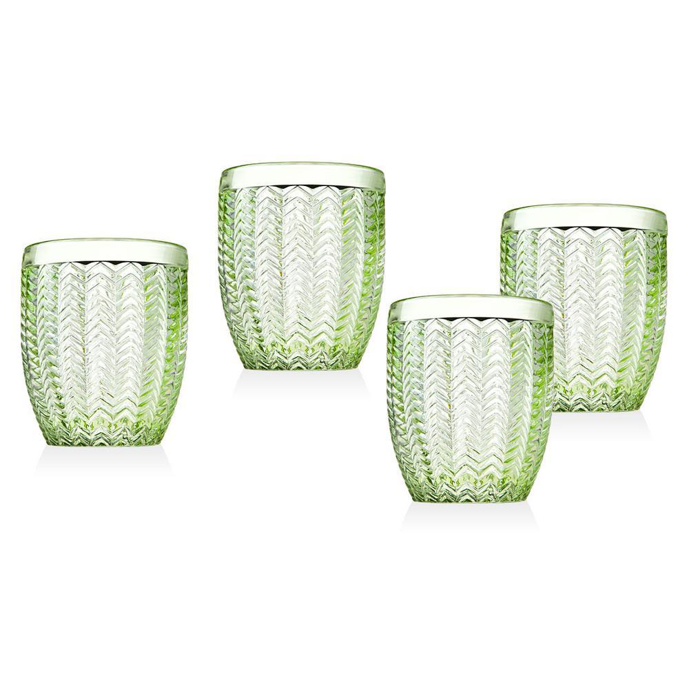 Twill 11 oz. Green Doff Glasses (Set of 4)