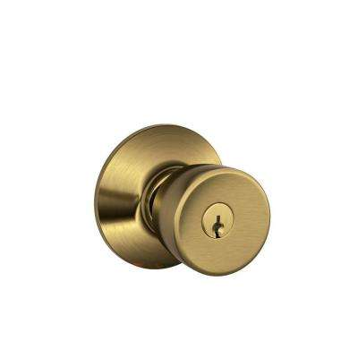 Bell Antique Brass Keyed Entry Knob