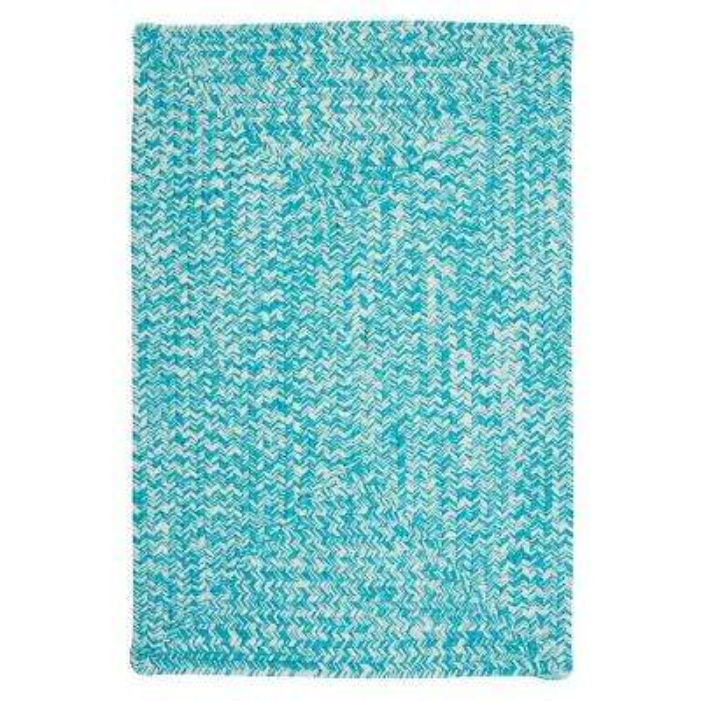 Marilyn Tweed Aqua 2 ft. x 6 ft. Braided Runner Rug