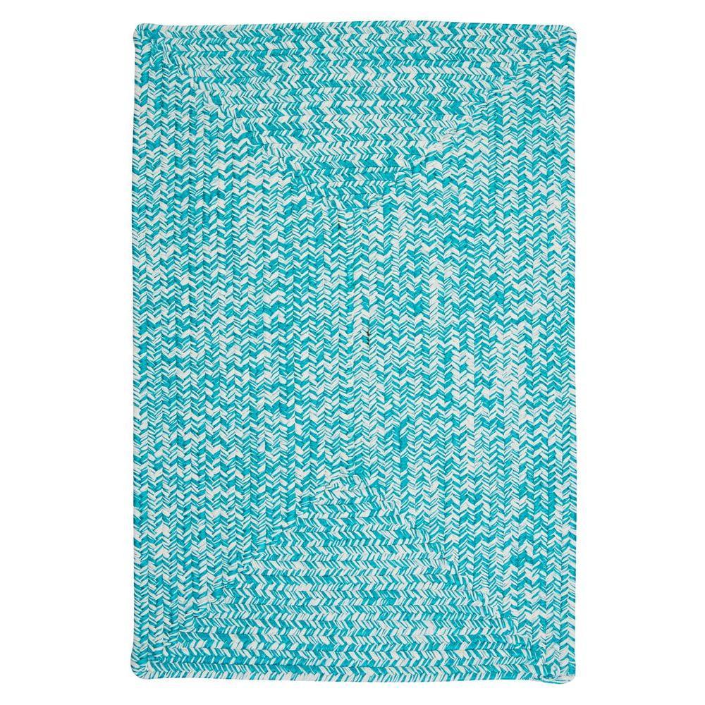 Marilyn Tweed Aqua 2 ft. x 10 ft. Braided Runner Rug