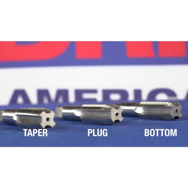 Drill America #10-24 UNC High Speed Steel Left 4 Flute Taper Tap, Pack of 1