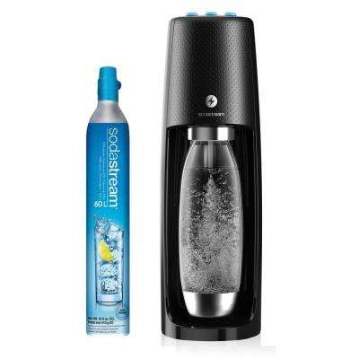 Fizzi 1-Touch Black Soda and Sparkling Water Maker Kit