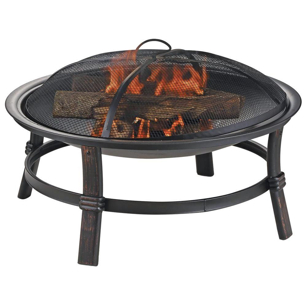 17 in. H Wood Burning Fire Bowl