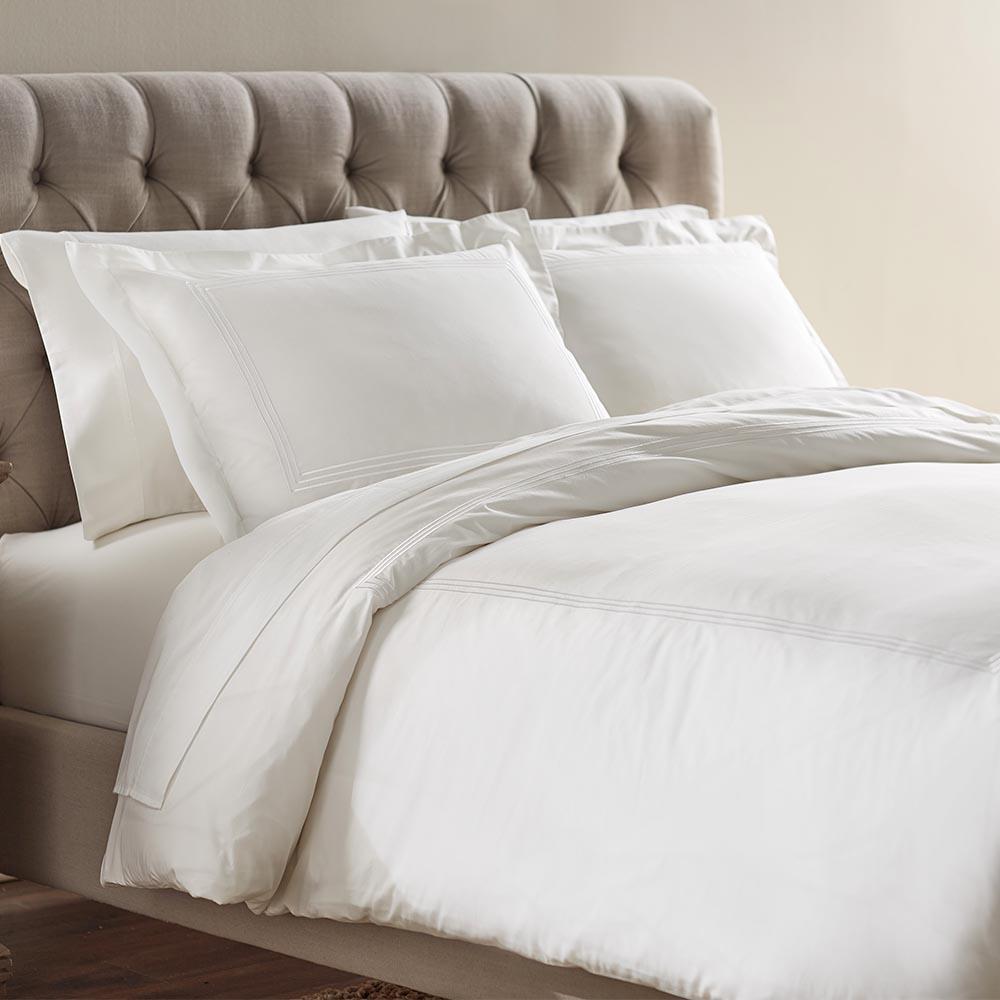 Home Decorators Collection Monaco White Full/Queen Duvet