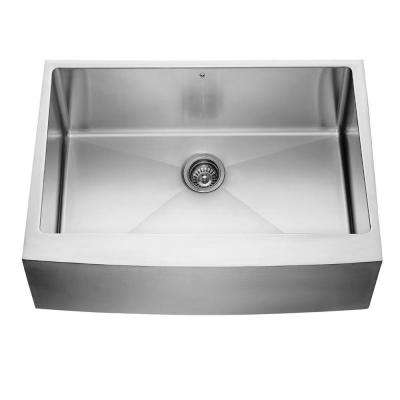 Farmhouse Apron Front 30 in. Single Bowl Kitchen Sink in Stainless Steel