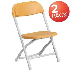 Swell Carnegy Avenue Yellow Kids Plastic Folding Chairs Set Of 2 Ocoug Best Dining Table And Chair Ideas Images Ocougorg