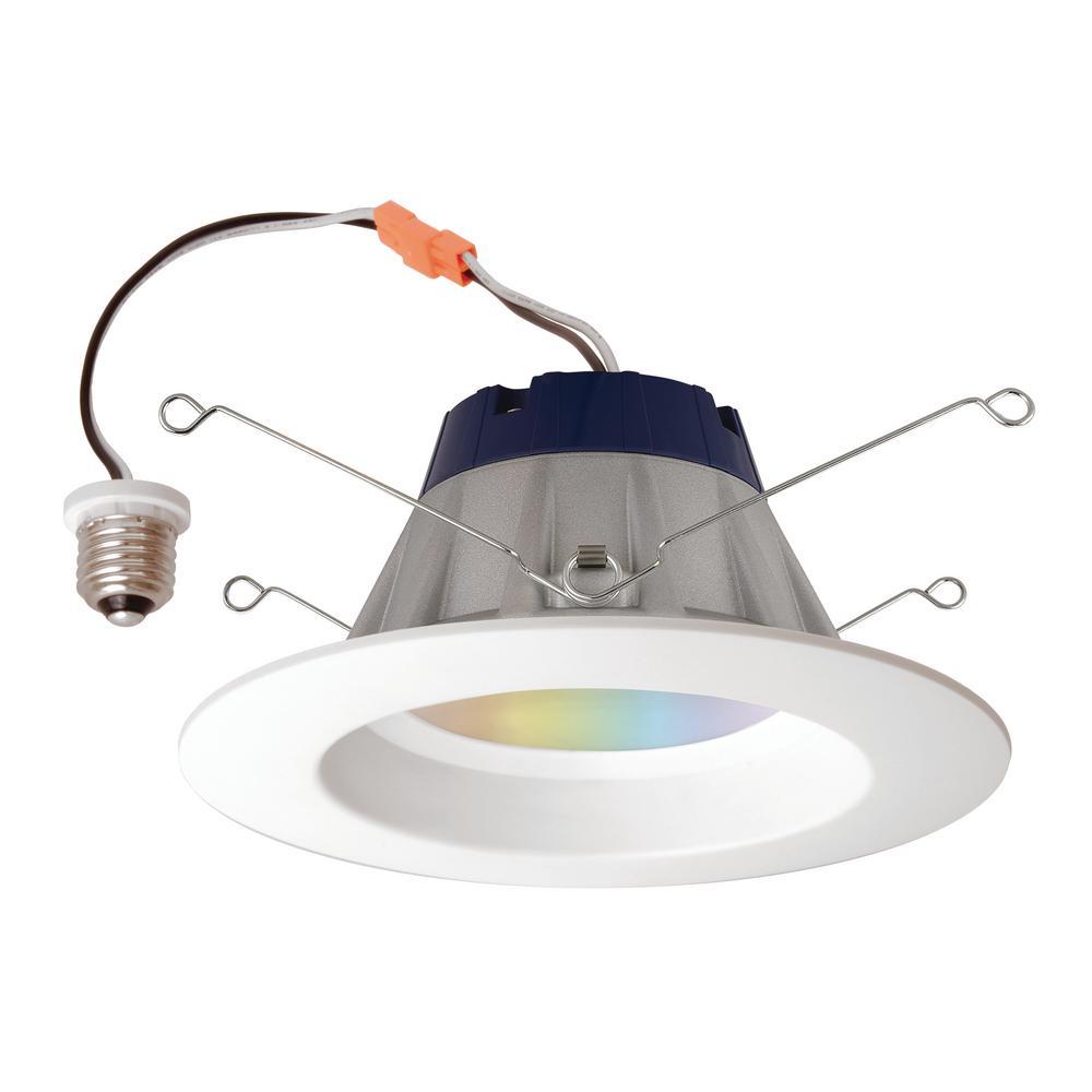 sylvania smart zigbee full color rt 5 6 recessed downlight smart