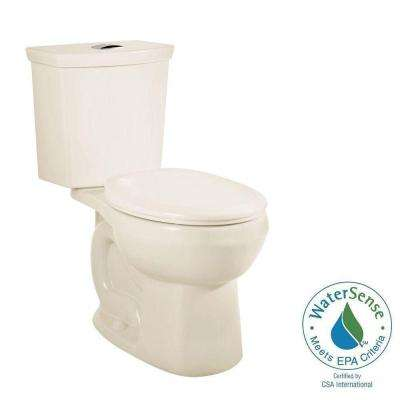 H2Option 2-Piece 0.92/1.28 GPF Dual Flush Round Front Toilet in Linen