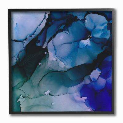 "12 in. x 12 in. ""Deep Water Abstract Splashes"" by Jonny Troisi Framed Wall Art"