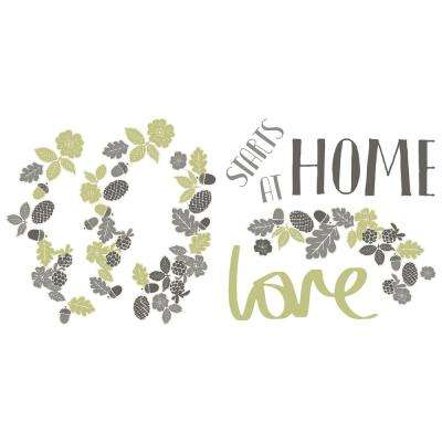 24 in. x 11.8 in. Love Starts At Home Wall Sticker