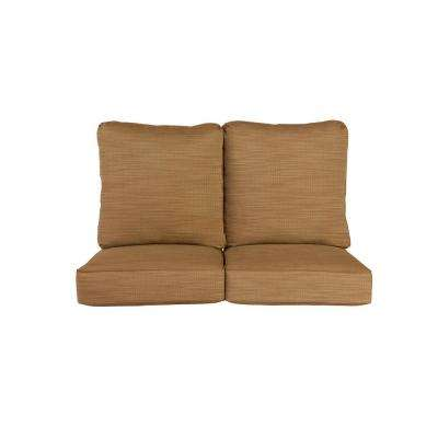 Vineyard Replacement Outdoor Loveseat Cushion in Toffee