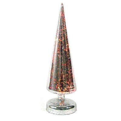 Glass Christmas Tabletop Trees Tabletop Christmas Decorations The Home Depot