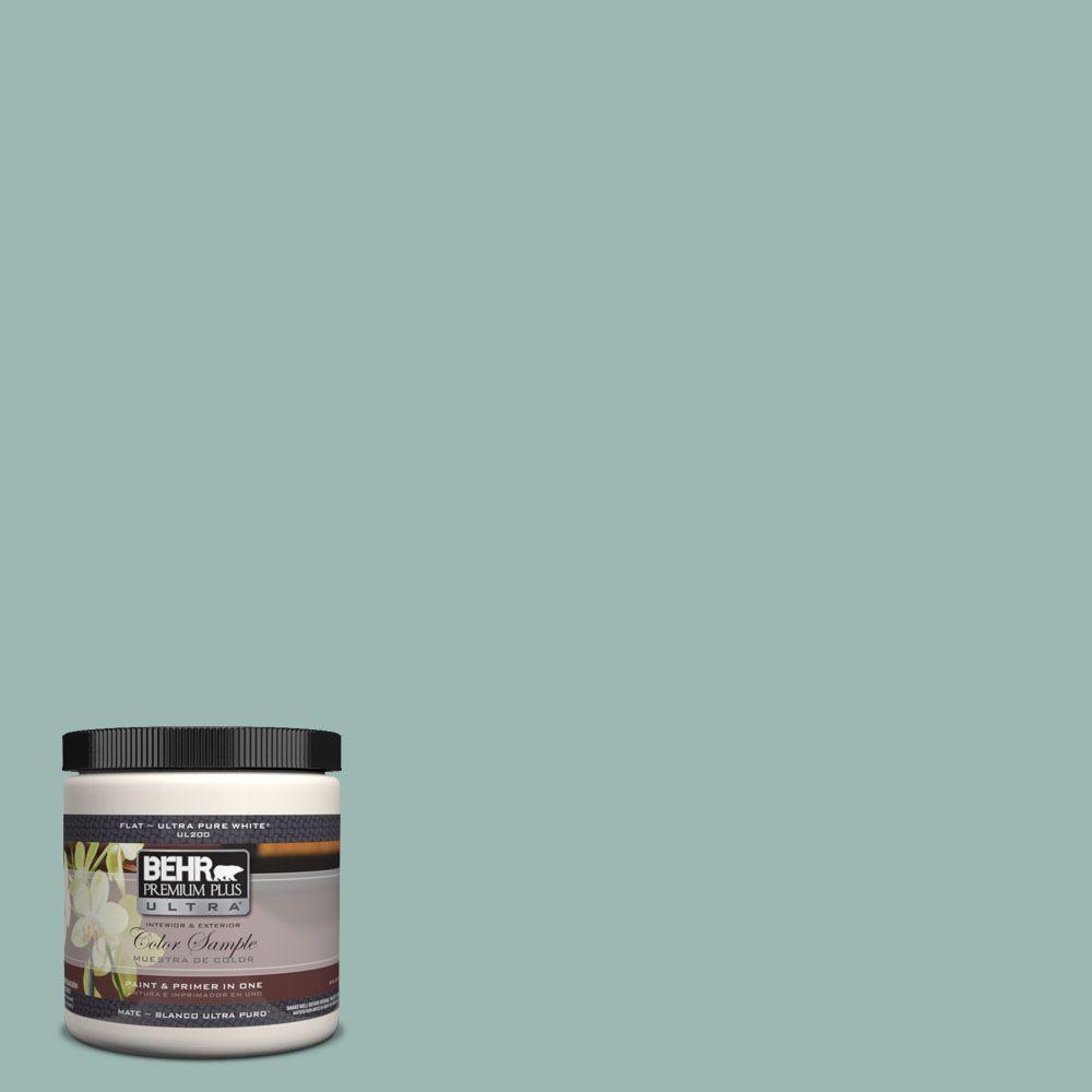 BEHR Premium Plus Ultra 8 oz. #UL220-5 Opal Silk Matte Interior/Exterior Paint and Primer in One Sample