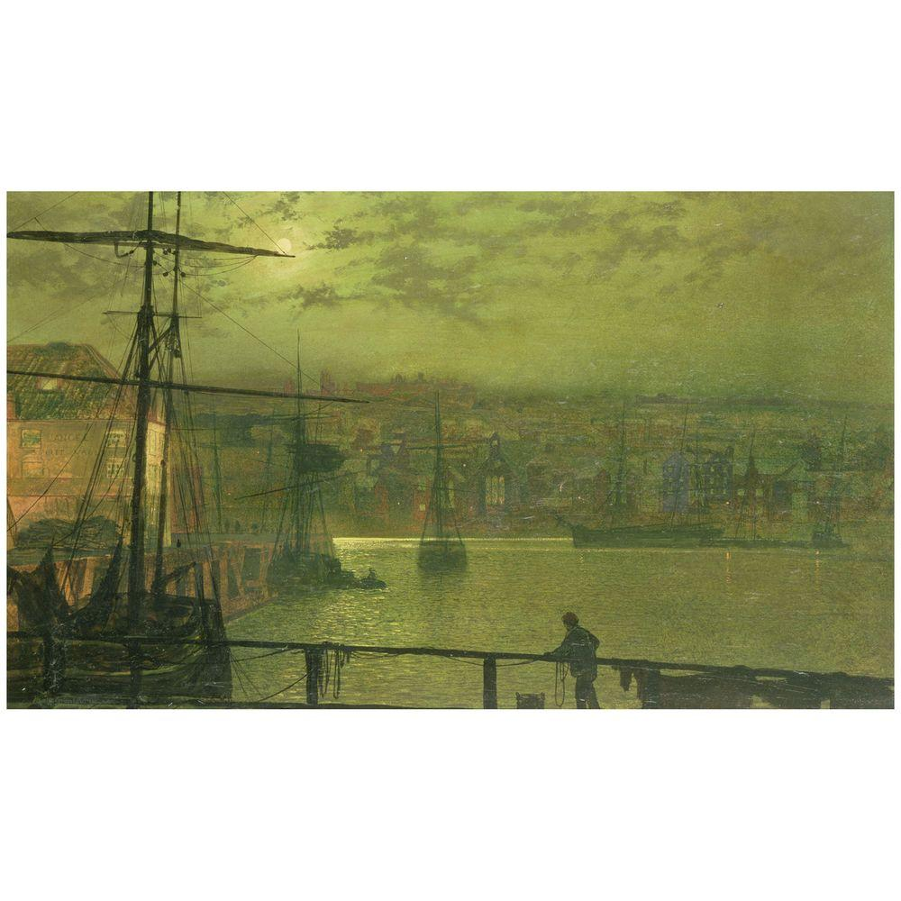18 in. x 32 in. A View of Whitby Harbor at
