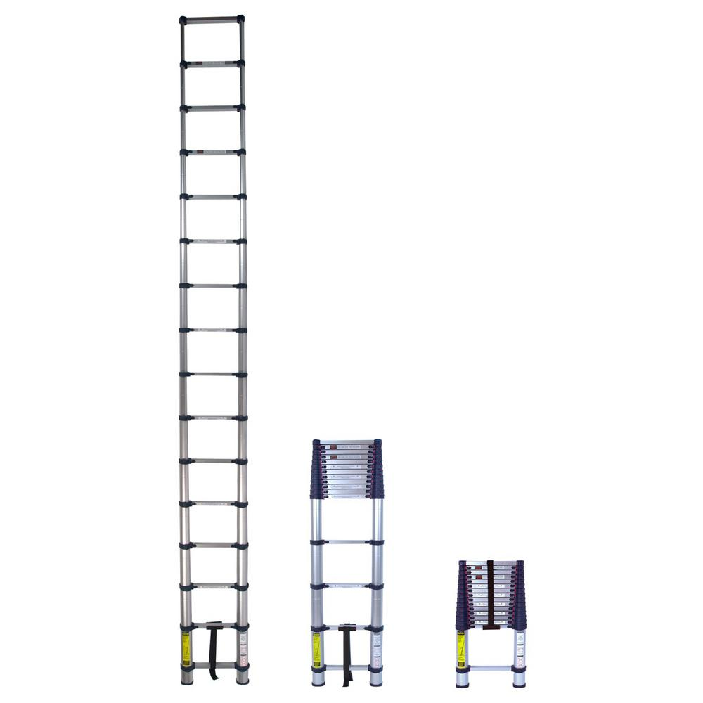 Xtend And Climb 15 5 Ft Telescoping Aluminum Extension Ladder With