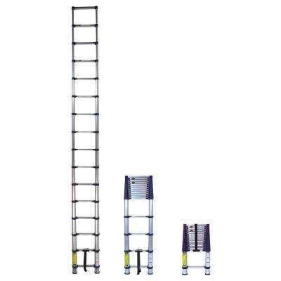 15.5 ft. Telescoping Aluminum Extension Ladder with 250 lbs. Load Capacity Type I Duty Rating