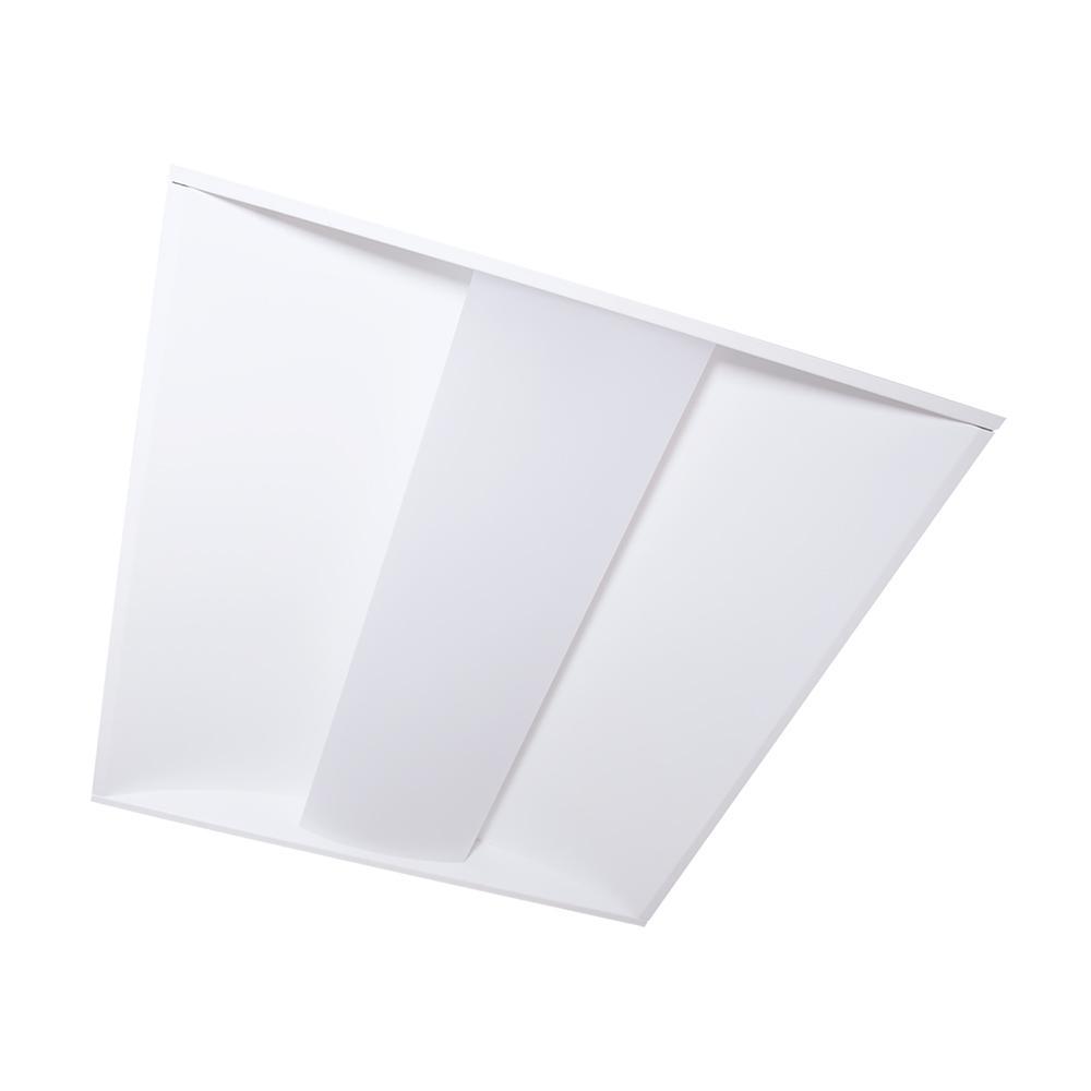 2 ft. x 2 ft. 51-Watt Equivalent Integrated LED White Center Lens Troffer, 4000K Bright White