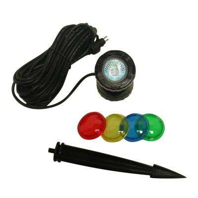 Power Beam 10-Watt Light Only 23 ft. Cord with Color Lenses and Stake
